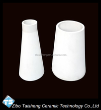 Wear Resistant Alumina Ceramic Tapered Pipe Lined In Cyclone