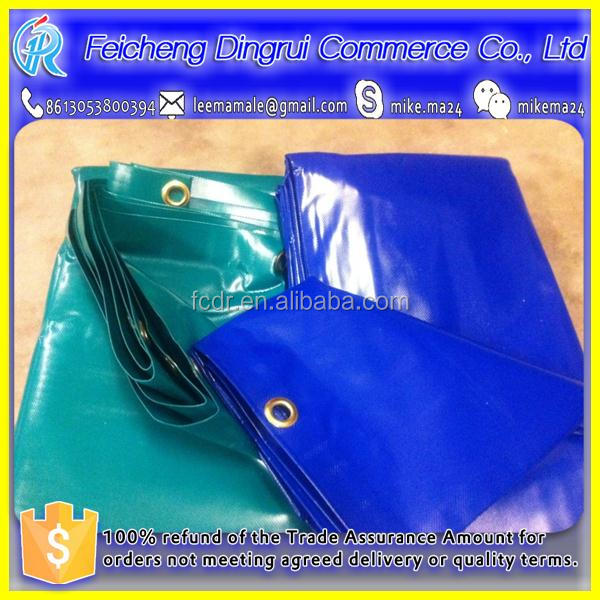 fire retardant pvc fabric vinyl tarps for temporary shelter, flame retardant