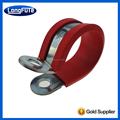 Cushioned Steel Rubber Pipe Tube Loop Clamp