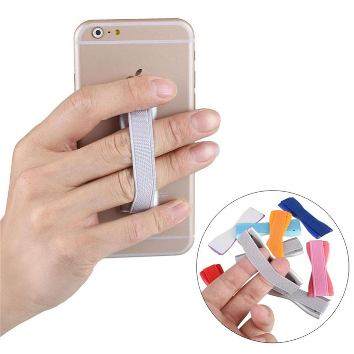 Universal Smart Cell Phone Finger Grip Handheld Holder Security Stand Elastic Band Holders for Huawei Honor 8