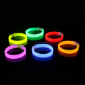 Professional glow brecelet factory custom your company logo glowing luminous bracelet