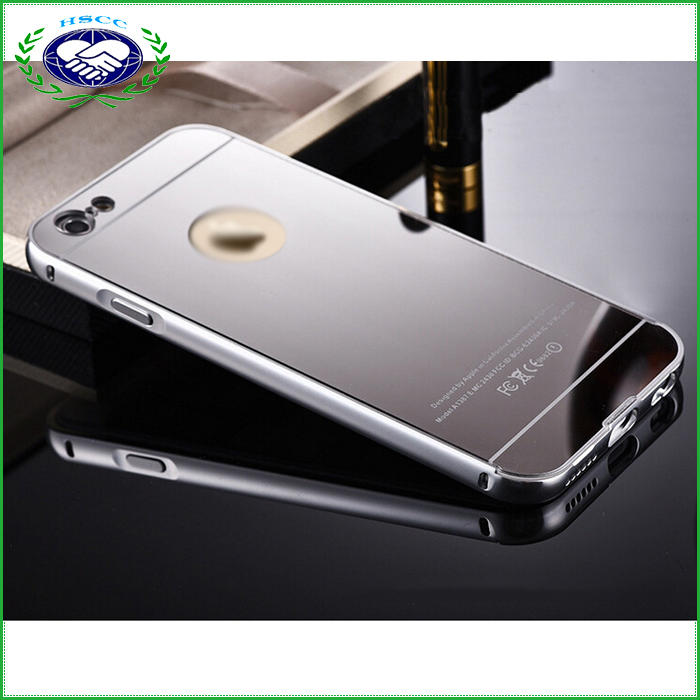 New Luxury Fashion Aluminum Frame Mirror Case Cover for iPhone 5 5s 6 6s Plus