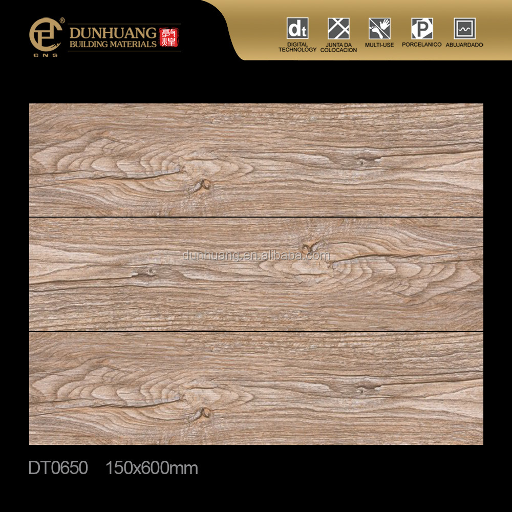 150x600mm Environmental Non-Slip wooden ceramic wood look floor <strong>tiles</strong> with different designs