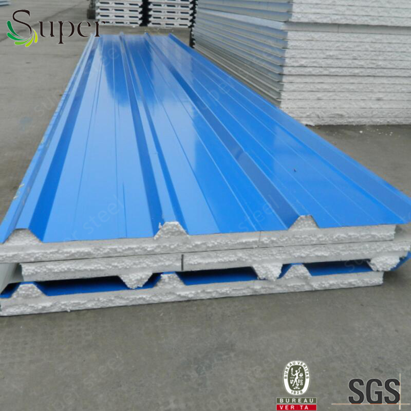 Both Steel Sheet Sides Cheap Price wall EPS/PU sandwich Panels for warehouse in Algeria