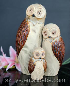 Decoration Garden HDPE Plastic Automatic Owl Animal