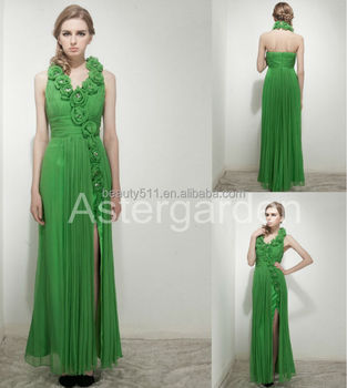 astergarden real silk party gowns Sheath straps floor-length evening dress AS243