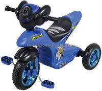 blue motor tricycle modeling kids bike 17719A