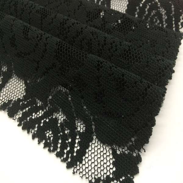 Black wholesale knitted cord guipure lace fabric lace for dress