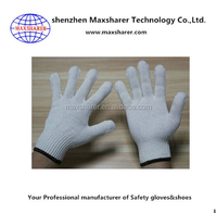 yellow cotton chore gloves