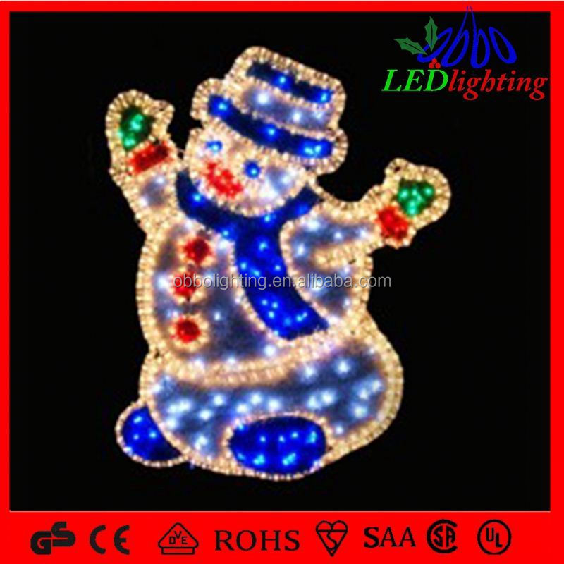 Outdoor Lighted Santa Claus 2d santa clause send gift santa claus gift