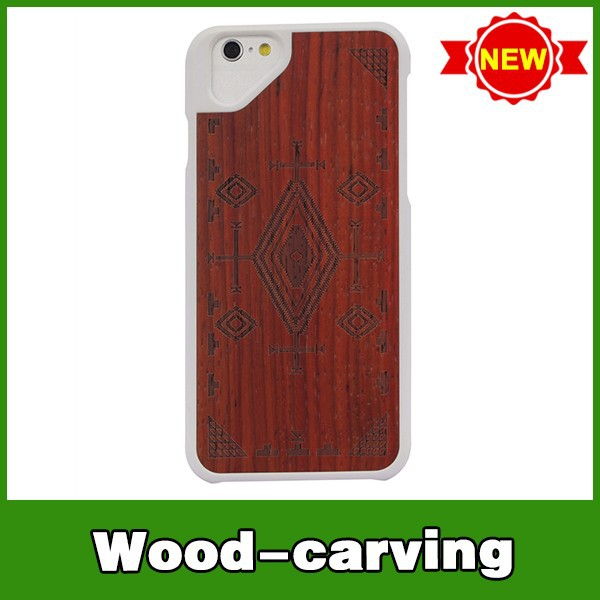 Hot selling mobile phone cover wood hard plastic case for iphone6