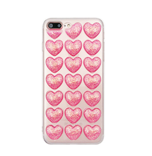 Fashion Blink Transparent Silicone TPU 3D Love Heart Phone Cases For iPhone X 8 8 plus 7 6S 6 Plus