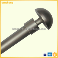 satin silver curtain rod set/ curtain finials for curtain rod