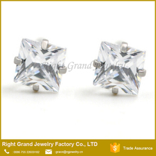 Factory Price Unique Tragus Jewelry Square CZ Ear Tragus Piercing Jewelry