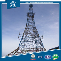 Hot dipped galvanized antenna cellular wind generator radio lattice tower
