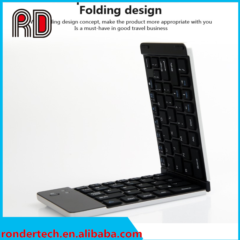 Metal pocket size foldable keyboard folding bluetooth keyboard