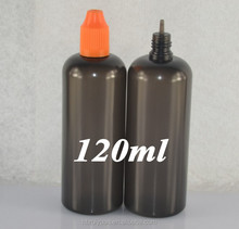 black 120ml ldpe dropper bottle with child resist cap for e liquid/e juice/vape juice manufacture in China--Delivery 3-5days