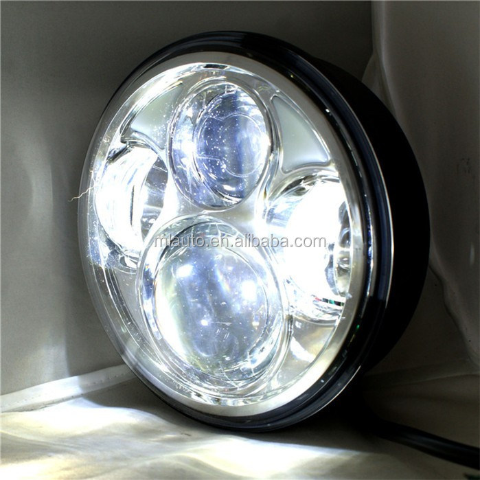 40w 12V Round dual Beam motorcycle led lights 3200LM IP67 auto led car headlamp for trucks offroad