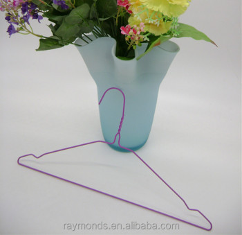 Powder-coated wire hangers for laundry