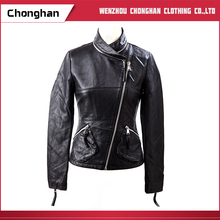 Chonghan High Quality European Style Clothing Winter PU Leather Jackets For Women