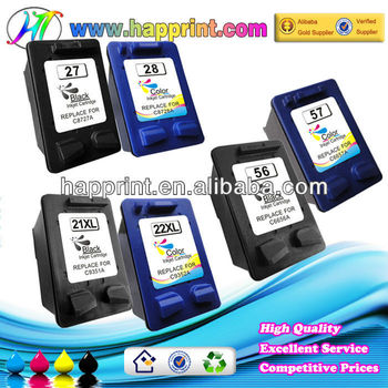 High quality as OEM ink cartridge C9351A C9352A 21xl 22xl refillable ink printers compatible ink cartridge for hp 21 22