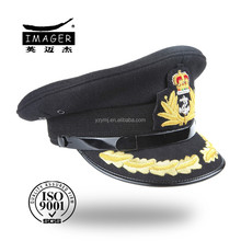 Uniform military band standard-bearer peaked cap with metal cap wind belt