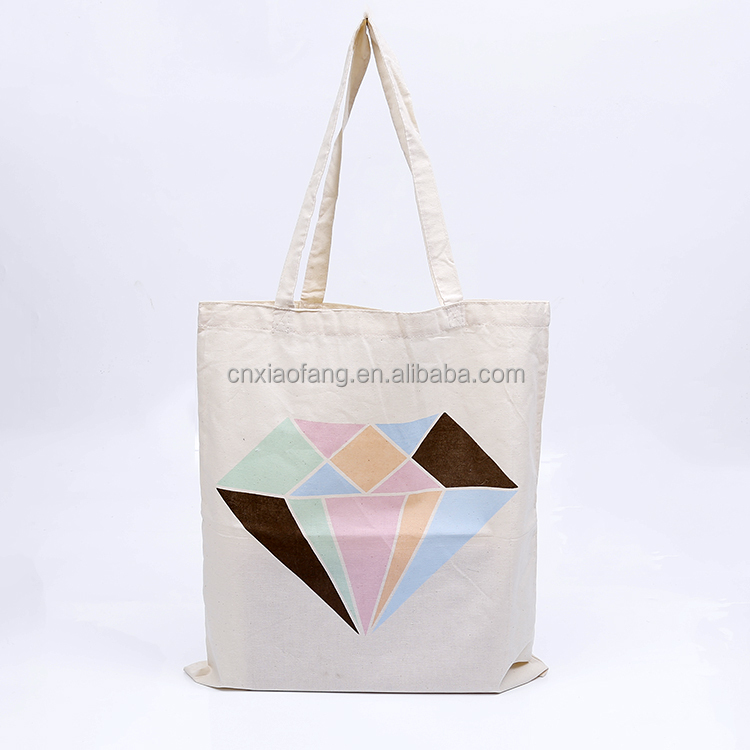 Wholesale custom printed cheap promotion cotton canvas tote bag, canvas beach bag, canvas shopping bag