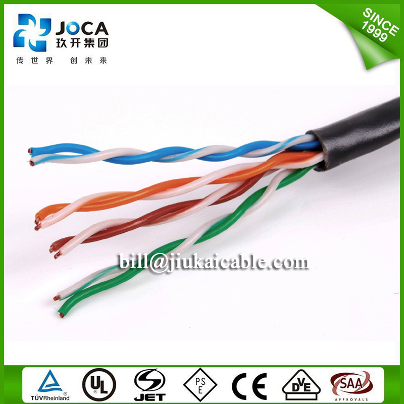Outdoor Cat5e Lan Cable 4pr 24awg Fire Resistant Twisted Pair Cable