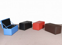 Guangdong factory Storage Ottoman with Hard Lid,indoor long storage bench