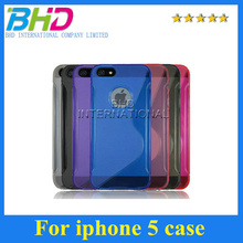 Transparent Clear Case For iphone 5 5S Soft Rubber Cases Luxury