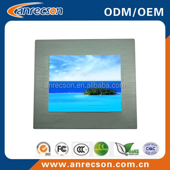 ip65 15 inch industrial capacitive touch screen panel pc