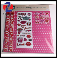 new arrived elegant fancy craft customized printed decorative creative pagemaker sticker kit