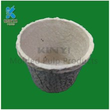 Custom natural plant pulp disposable flower seedling pots