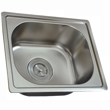 Euro Drop In Single Bowl Stainless Steel Kitchen Sink