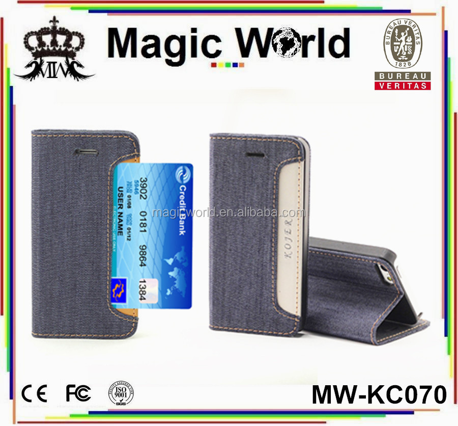 Card Holder Leather Jeans Phone Case For Iphone 5 5s