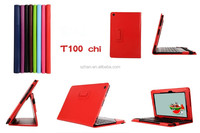 High Quality Lychee PU Leather Case with Stand For Asus Transformer Book T100 chi