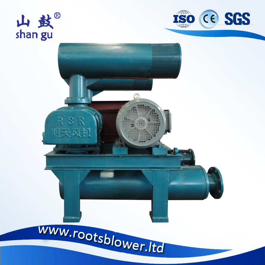 MJSR-250D three lobes high pressure fertilizer roots blower