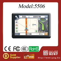 5 Inch Touchscreen Auto Car GPS Navigation Win CE 6.0 with FM Transmitter, ISDB-T function