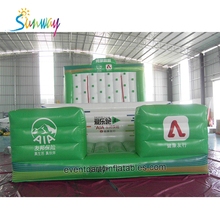 Colorful Inflatable Jumping Bouncer Castle Obstacle Course , Inflatable Climbing Walls , Inflatable Sport Game For Adults