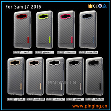 High quality carbon fiber cases for celular samsung j7 2016 2mm prism tpu cover