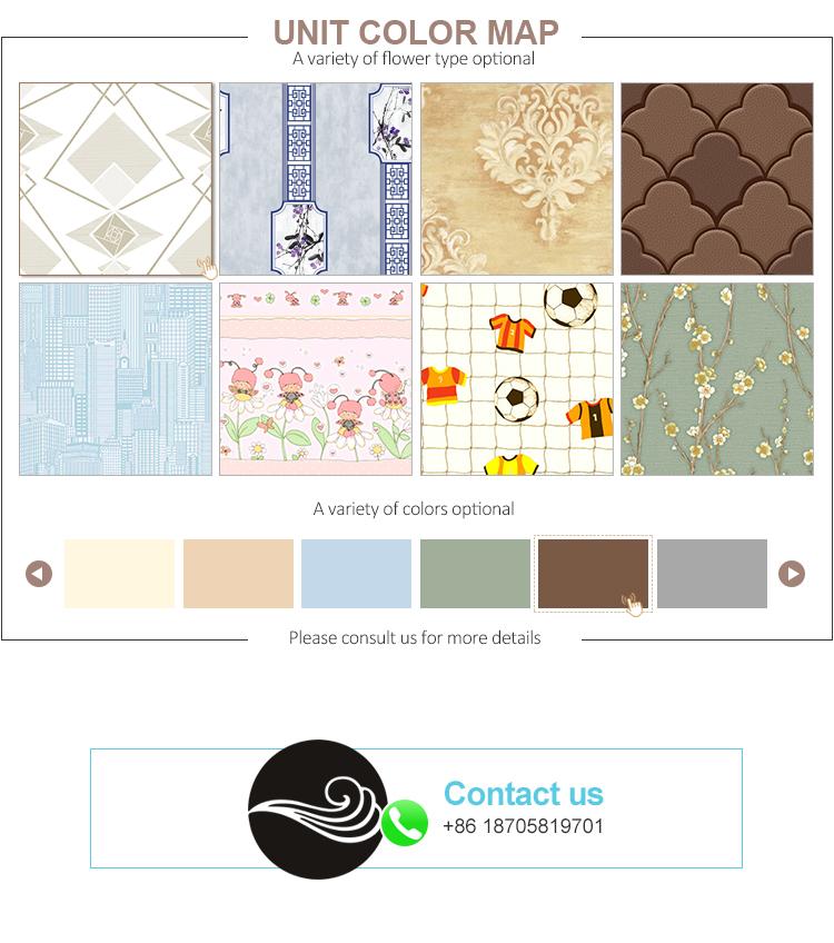2018 mode insonorisées 3d catalogue papier peint pour la décoration mur