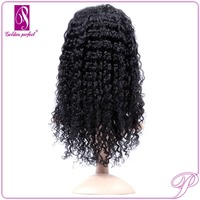 Brazilian hair elastic band kinky curly for black women full lace glueless wig