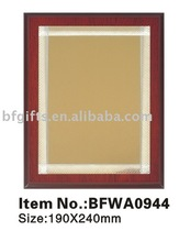 Newest MDF wooden plaque with metal sheet:BFWA0944