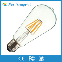 Energy saving 3 years warranty smd 2835 dimmable led filament bulb light