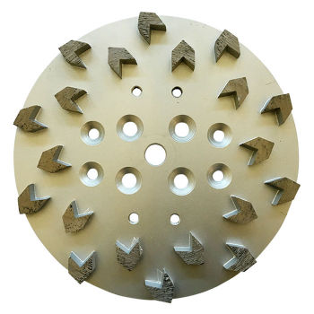 10inch 20 Arrow Segments Diamond Grinding Head Plate Concrete Grinding Disc for Concrete Floor Grinders