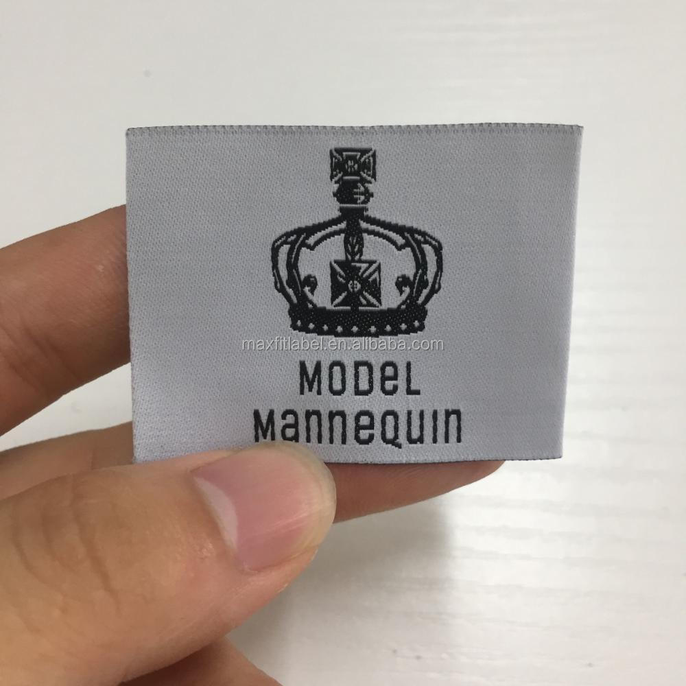 High quality custom design 50d high density damask woven labels