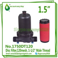 "2015 HOT SALE 1750DT120 Drip irrigaiton fitting Male Thread 120mesh 1-1/2"" Disc Filter"