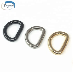 Eco-friendly Various Size Ring Buckle Strong Metal D Ring for Dog Collar