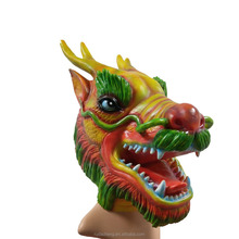 Halloween masquerade Creepy party animal costume cute latex realistic full head dragon face mask for adult