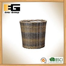 PE/plastic rattan flower pots and baskets